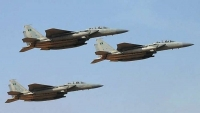 غارات للتحالف على مواقع للحوثيين غربي قعطبة