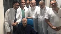الرئيس التونسي يغادر المستشفى بعد تعافيه