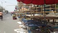 انعدام الخضار لليوم الثاني في عدن جراء ترحيل الحزام الأمني للباعة من أبناء الشمال