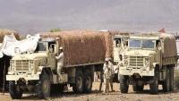 رتل عسكري من القوات السعودية في طريقه إلى عدن