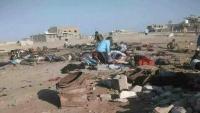 """""""رايتس رادار"""" تدين قصف طيران الإمارات في عدن وأبين"""