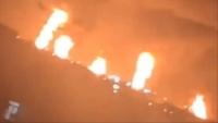 """حريق يلتهم معملين بـ""""أرامكو"""" بهجوم طائرات مسيرة شرقي السعودية (فيديو)"""