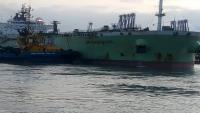 وصول سفينة على متنها 59 ألف طن متري من الديزل لميناء الزيت مخصصة لوزارة الكهرباء