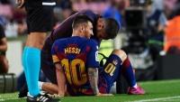 إصابة وشكوك.. مخاوف في برشلونة من فترة غياب ميسي