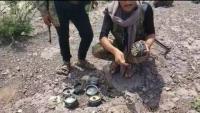 إصابة ستة مدنيين بينهم أطفال ونساء بانفجار لغمين خلفهما الحوثيون في الضالع