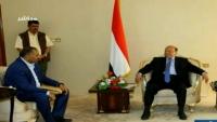 هادي يلتقي عيدروس الزبيدي والأخير يؤكد العمل سويا لتنفيذ اتفاق الرياض
