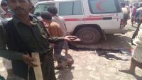 اللواء الثالث حماية رئاسية يوضح ملابسات انفجار استهدف سيارة إسعاف في لودر