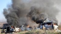 الجيش الأمريكي يقصف 5 مقرات للحشد الشعبي والجيش العراقي
