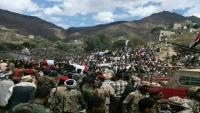 الآلاف يشيعون جثمان العميد الحمادي قائد اللواء 35 مدرع بتعز