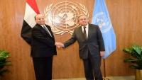 هادي يطالب الأمم المتحدة بتوجيه مبعوثها للالتزام بالمرجعيات الثلاث للحل في اليمن