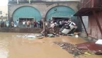 وفاة خمسة مدنيين وأضرار مادية فادحة بسبب السيول في عدن