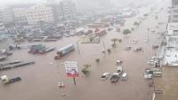 رئيس الجمهورية يوجّه بإغاثة أبناء عدن ومعالجة أضرار السيول