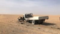 مقتل سائق شاحنة وتدمير مركبته في انفجار عبوة ناسفة بحضرموت