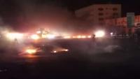 قوات الأمن تطلق الرصاص الحي لتفريق محتجين طالبوا بتوفير الخدمات في المكلا