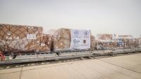 وصول 43 طنا من المساعدات الطبية إلى عدن وصنعاء