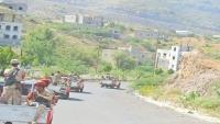 شرطة تعز تطلق حملة أمنية لضبط أحد المطلوبين في منطقة السمسرة