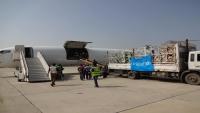 بدعم من اليونيسف.. وصول شحنة أدوية ومسحات خاصة بكورونا إلى مطار عدن