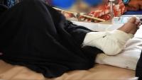 إصابة امرأة بقصف حوثي في الضالع