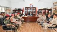 تعز.. المحافظ وقيادة المحور يسلمان قيادة اللواء 35 مدرع للعميد الشمساني