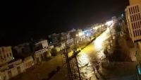 حضرموت.. أمطار غزيرة تتسبب بقطع الطرق وتشققات في بعض منازل شبام التاريخية