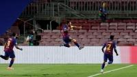 بالفيديو.. ميسي يقود برشلونة لربع نهائي دوري أبطال أوروبا على حساب نابولي