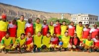 نجوم المنتخب الوطني في حدث رياضي تاريخي في أبين