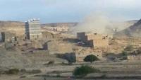 قصف حوثي يستهدف مساكن المدنيين في الزاهر بالبيضاء