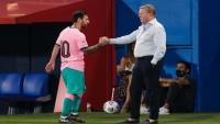 شاهد.. ميسي يجلب الفوز لبرشلونة وكومان يراجع موقفه من سواريز
