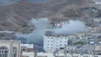 مقتل امرأة وإصابة آخرين بقصف حوثي استهداف أحياء سكنية في تعز