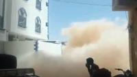 انهيار مبنى فندق وسط مدينة سيئون ولا إصابات