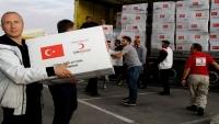تركيا توزع أكثر من ألف سلة غذائية في جنوب اليمن