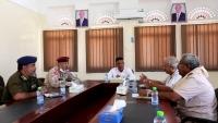 اجتماع عسكري في حضرموت يقف أمام التحديات التي تواجه المحافظة