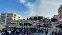 قتلى وجرحى في زلزال قوي ضرب ولاية أزمير غرب تركيا