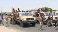قوة من ألوية العمالقة تصل أبين للفصل بين القوات الحكومية ومليشيا الانتقالي