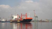 خط ملاحي دنماركي في ميناء عدن