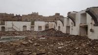 جماعة الحوثي تهدم مسجدا أثريا يعود للقرن الأول الهجرى في صنعاء