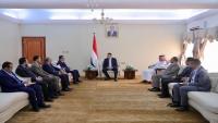 رئيس الحكومة يستقبل قيادات في الانتقالي ويؤكد ضرورة استكمال تنفيذ اتفاق الرياض