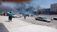 جنود في الحزام الأمني يقطعون طرقا في عدن احتجاجا على تأخر رواتبهم