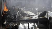 أخدود مرعب.. تنديد واسع بمحرقة مهاجرين أفارقة في مركز احتجاز بصنعاء