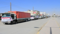 مأرب تستقبل قافلة إغاثية ثانية مقدمة من محافظة حضرموت