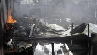 جماعة الحوثي تعترف بمصرع 43 إثيوبيا بحريق مركز احتجاز المهاجرين في صنعاء