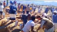 محرقة المهاجرين في صنعاء.. دفن عاجل للضحايا ومظاهرات تطالب بالتحقيق