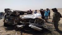 وفاة ثلاثة مسافرين وإصابة آخرين في حادث مروري بطور الباحة محافظة لحج