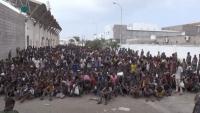 جماعة الحوثي ترحل 400 لاجئ أفريقي من صنعاء إلى مناطق الحكومة الشرعية