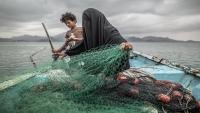 """صورة امرأة يمنية مرشحة للفوز بمسابقة جائزة """"صور الصحافة العالمية"""""""