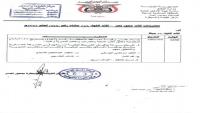 محافظ تعز يقيل مدير مكتب الصناعة والتجارة ويوجه بالقبض على ضباط أغلقوا مقارٍّ حكومية