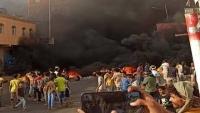 تواصل الاحتجاجات في عدن ومليشيا الانتقالي تقمع التظاهرة بالرصاص الحي (فيديو)