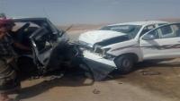 حادث مروري مروع يودي بحياة 5 ويصيب 15 آخرين في حضرموت