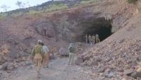 العثور على 350 لغما حوثيا داخل نفق في لحج
