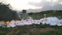 الحوثيون يتلفون 24 طناً من مساعدات غذائية منتهية الصلاحية بمخازن الأمم المتحدة في ريمة